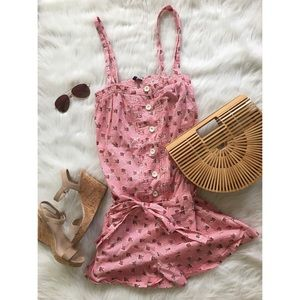 Rose and Check Pink Romper